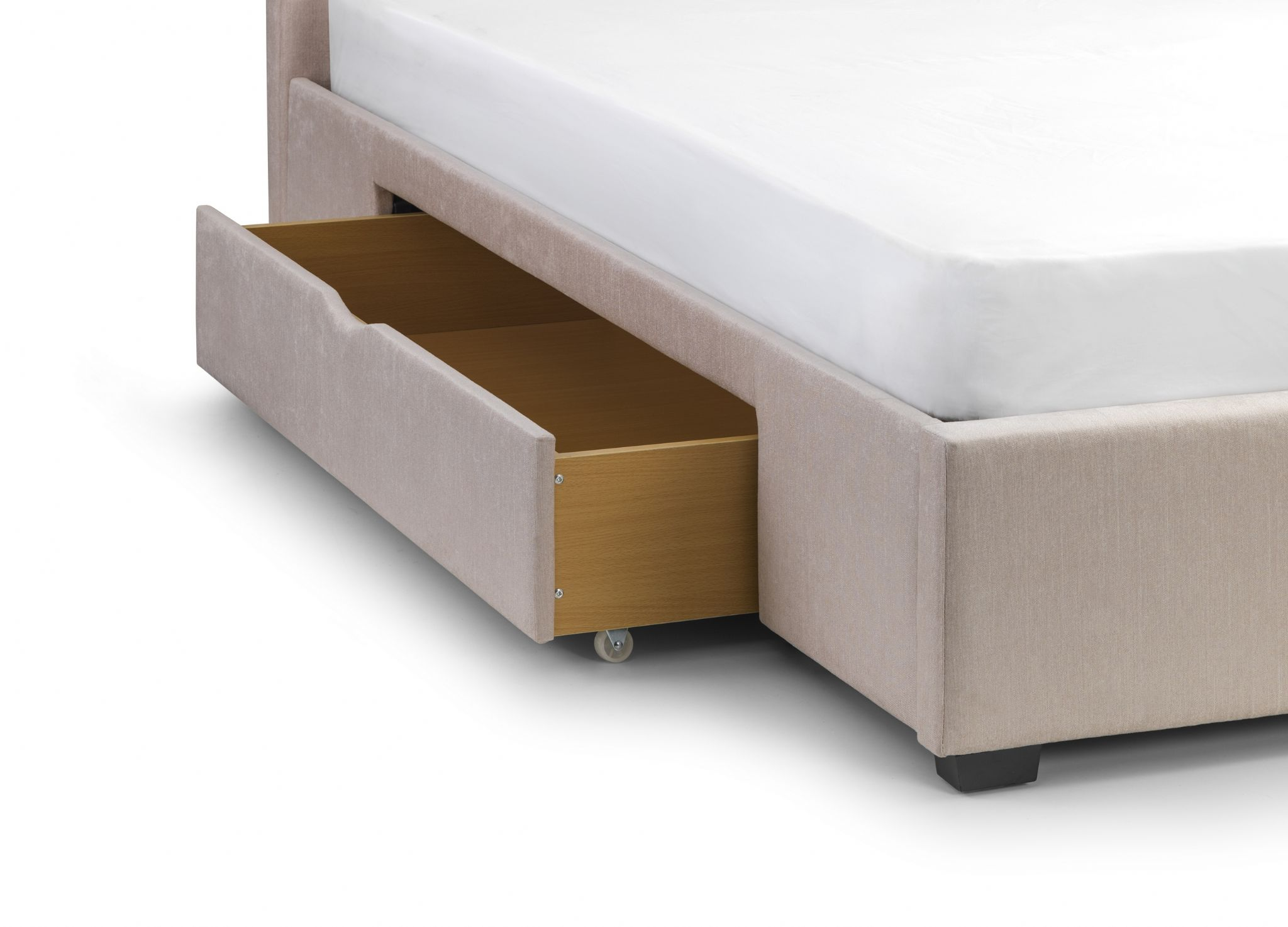Pearl Soft Touch Chenille Fabric Storage King Size Bed JB217